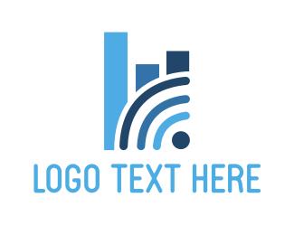 Chart - Wifi Analytics logo design