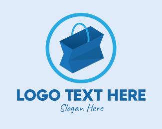 Shop - Blue Online Shopping logo design