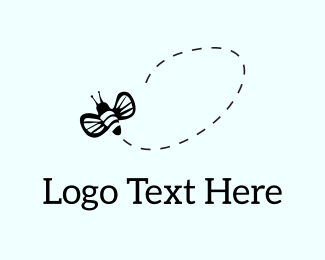 Bee - Flying Bee logo design