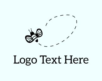 Bee - Flying Bee logo design