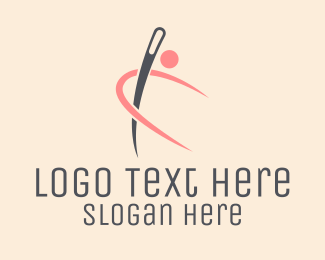Thread - Needle Person logo design