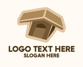 Pet Accessories - Brown Dog House  logo design