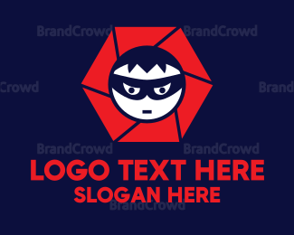 Burglar - Ninja Camera logo design