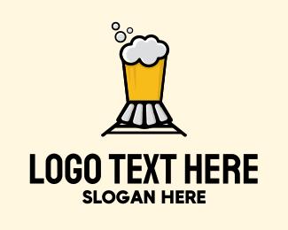 Train - Beer Train Bar logo design