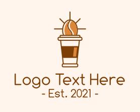 Coffee - Coffee Bean Cup logo design