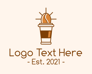 Coffee Cup - Coffee Bean Cup logo design