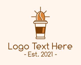Coffee Stand - Coffee Bean Cup logo design