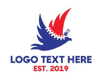 USA Zipper Eagle Logo