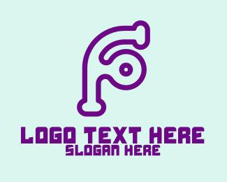 Digital Printing - Modern Digital Letter F logo design