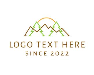 Summer - Landscape Outlines logo design