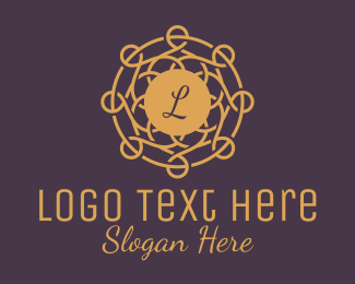 """""""Beautiful Golden Circle Wreath Lettermark"""" by town"""