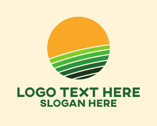 Plain - Sunny Farm Field logo design