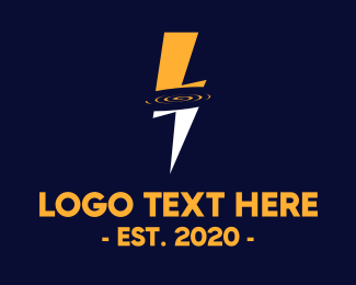 Volt - Thunder Energy logo design