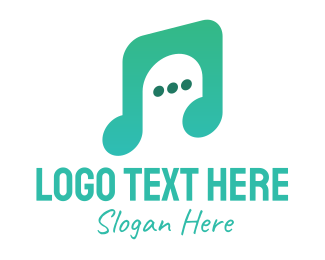 Music Lover - Music Chat App logo design