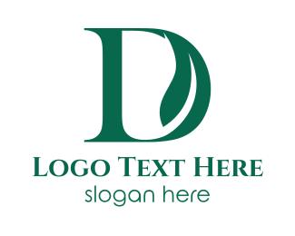Green D Leaf Logo