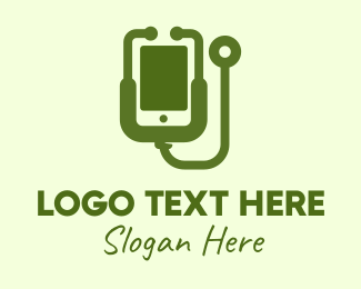 Healthcare - Green Mobile Healthcare logo design