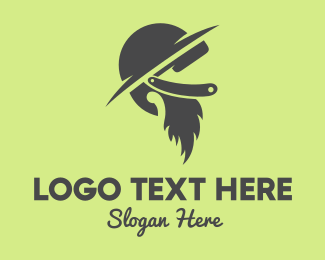 Soldier - Beard & Hat logo design