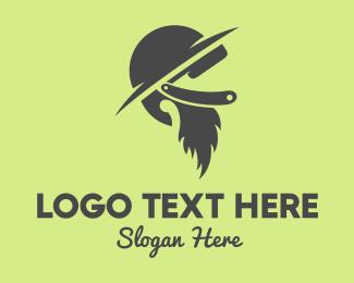 Soldier - Beard & Hat logo design
