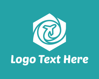 Airplane - Hexagon Airplane logo design