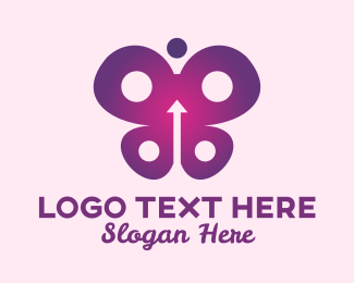Childrens Fashion - Abstract Arrow Butterfly  logo design