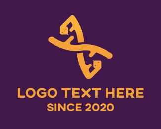 DNA Lab - Genetic DNA String logo design