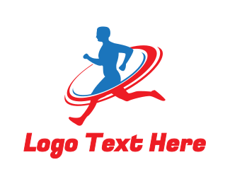 Cross Country - Sports Running Fitness logo design