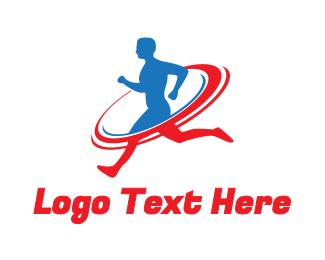 Running - Sports Running Fitness logo design
