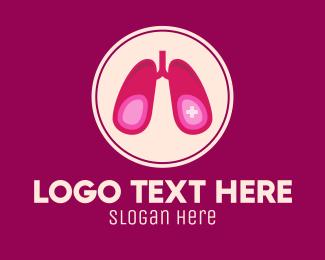 Breathe - Medical Respiratory Lungs logo design