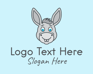 Brown Baby - Cute Donkey Avatar logo design