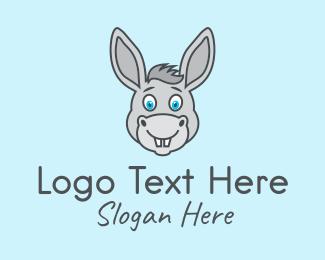 Horse - Donkey Horse Mascot logo design