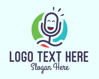 Online Learning - Happy Playful Microphone logo design