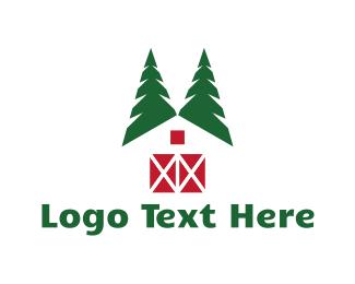 Tree House - Forest Cabin logo design