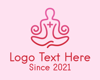 Meditation - Yoga Meditation Wellness logo design