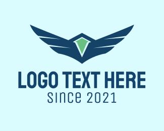 Military - Air Force Wings  logo design
