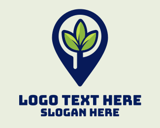 Leaf - Plant Location Pin logo design