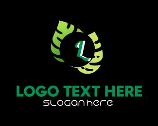 Green Living - Green Leaves Lettermark logo design