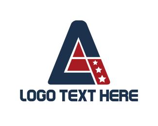 American - Patriotic Triangle logo design