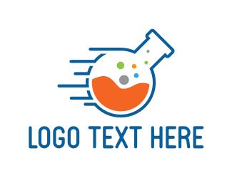 Scientist - Fast Lab logo design