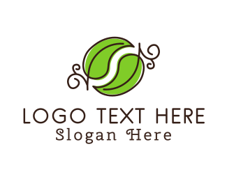 Green Leaves Logo Maker