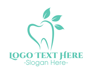 Blue Tooth - Green Dental Tooth logo design