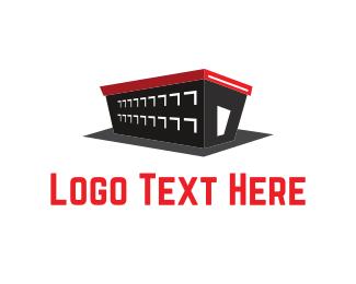 Storage - Black Warehouse logo design