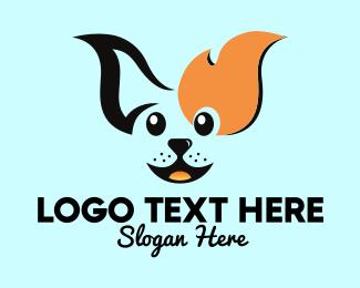 Sleepy - Cute Fiery Dog logo design