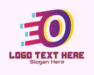 Number 0 - Speedy Number 0 Zero Motion logo design