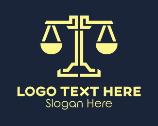 Law Enforcer - Professional Justice Scales Attorney Law Firm logo design