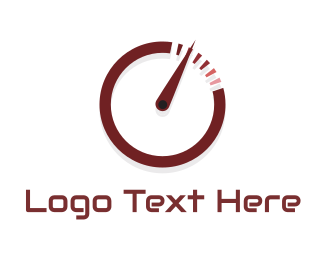 Go Kart - Speedometer Circle logo design