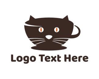 Coffee Cup - Coffee Cat logo design