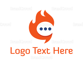 Burn - Hot Chat logo design