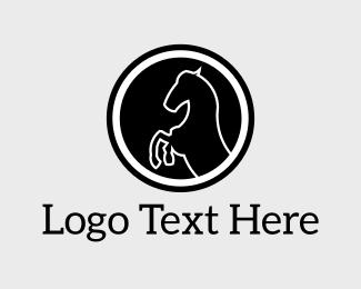 Equestrian - Black Horse logo design