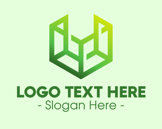 Digital Marketing - Digital Green Cube logo design