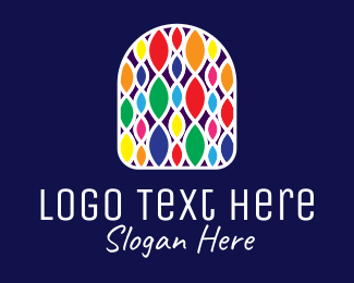 Interior Decor - Multicolor Decorative Pattern  logo design